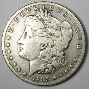 1895-S Morgan Silver Dollar $1 - VF Details - Rare Date Coin!