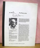 The Waterworks by E. L. Doctorow 1994 *Signed Proof Copy*