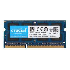 Crucial 4GB 2RX8 DDR3 1600MHz PC3-12800S 1.5V 204pin SO-DIMM RAM Memory Laptop #
