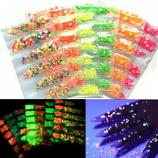 3D Nail Art Rhinestones Decor Luminous Gems Flatback Crystals Glow In The Dark