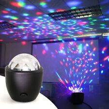 Mini LED Crystal Ball Stage Light Club RGB Rotating Disco Party DJ Decor