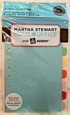 New Martha Stewart Avery Home Office Plastic 55 X 85 Dividers 8 Tab