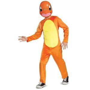 Pokemon Kids Charmander Halloween Costume Jumpsuit & Mask - 4-6 Small #5061