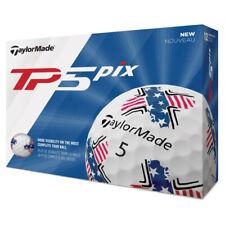 2019 TaylorMade TP5 Pix USA Golf Balls - 5 Layers - Complete Tour Ball - 1 Dozen