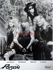 Poison Rock Band Signed 8x10 Autographed Photo rp