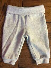 "GYMBOREE Unisex BRAND NEW BABY Gray Fold Down Waist ""Loved"" Pants EUC 3-6 Months"