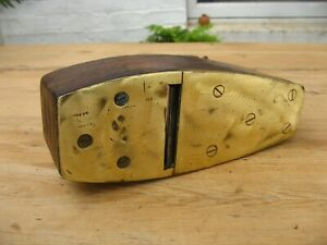 Antique Wood Smoothing Plane with Brass Sole