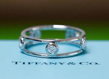Tiffany & Co Diamond Else Peretti Wire Platinum Diamond Ring  Band