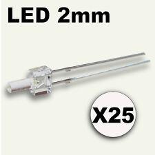 310/25# LED Blanche 2mm 25pcs + résistance ---> 800mcd