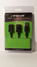 273-0412 NEW! RADIO SHACK ENERCELL USB Power  Charging Y Cable