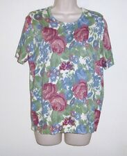 """National Floral Pull Over Top  Bust 40""""  Length 25"""""""