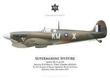 Print Spitfire Mk Vc, W/O Chandler (RNZAF) , No 615 Squadron RAF (by G. Marie)