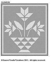 Flowers - Filet Crochet Pattern