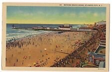 AMCO KODAK GULF Signs PIER  BOARDWALK ATLANTIC CITY New Jersey Linen POSTCARD