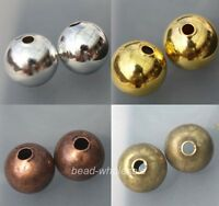 Silver/Golden//Copper Copper Tone Seamless Ball Finding Spacer Bead 6/8mm