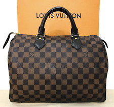Authentic Louis Vuitton Damier Ebene Speedy 30 Hand Bag