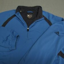 ADIDAS POLY  1/4 ZIP GOLF PULLOVER-L-LINED-ZIPPERED POCKETS-TOP SPOTLESS QUALITY