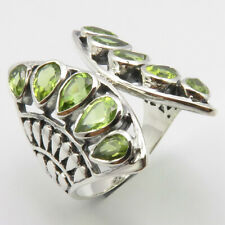 Sterling Silver PERIDOT Ring Sz 9.25 Handcrafted Jewelry FREE SHIPPING