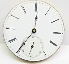 Antique No Name Pocket Watch Movement. 38 mm in size. porcelain dial