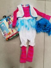 Childs Lalaloopsy Deluxe Mittens Fluff N Stuff Halloween Costume  Blue Wig Cute