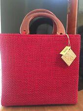 PUTU by J Maclear Red Handwoven Tote Purse Shopper Hand Bag NWT
