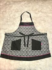 Pampered Chef Apron - Help whip cancer edition - Black white and hot pink