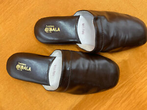 "Herren Leder Hausschuhe, Mens Leather Slippers ""Koala"" D 41"