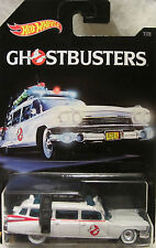 """Hot Wheels CUSTOM '59 CADILLAC """"Ghostbusters Ecto-1"""" Real Riders Rubber Wheels!"""