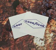 Goodyear bleu & blanc en forme de losange autocollants 65mm paire F1