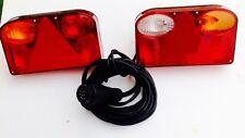 Anhänger Rückleuchten-Set mit 13 poligen Stecker 5 Meter Anschlusskabel  Kabel