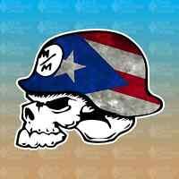 "Metal Mulisha Puerto Rico Flag 5"" Custom Vinyl Decal Sticker JDM"