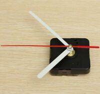 Hands DIY Quartz Black Wall Clock White & Red Movement Mechanism Repair Parts  2