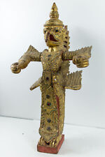 Thailändischer Garuda ? handgearbeitete Holzfigur Mitte 20. Jahrhundert