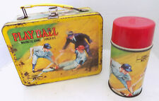 1969 Play Ball Magnetic Game Metal Lunchbox & Thermos King Seeley