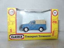 Classix EM76632 1/76 OO Scale Morris Minor 1000 Pick Up Blue with Beige Cover