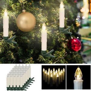 10er-50er LED Weihnachtskerzen Warmweiß Kabellos Christbaumkerzen inkl Batterien