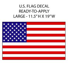 American Flag LARGE GRAPHIC Camper RV sticker 19in WIDE decal patriotic US