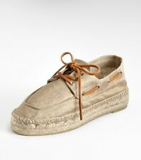 77c0e5790af6e Tory Burch Silver Metallic Blanton Espadrilles Shoes Sz 7