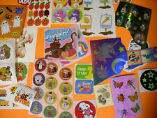 scrapbook album STICKER LOT vintage thanksgiving xmas peanuts scooby unicorn