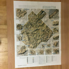 Metal Gear Solid 5 V Phantom Pain Large Fold Out Map From The Guide Book