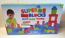 SUPER blocchi-Stack-costruire-Asciugatura a - 17 PEZZI ASSORTITI età 3 + ** GRANDE REGALO **