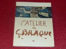 [ART XXe] L'ATELIER DE GEORGES BRAQUE CATALOGUE EXPO LOUVRE Paris EO 1961 RMN