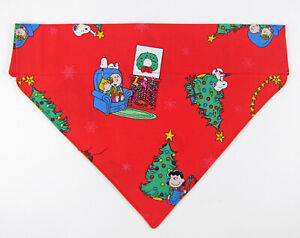 Peanuts Christmas Dog Bandana Over the Collar dog bandana  Dog collar bandana