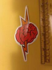 lighting bolt threw brain sticker