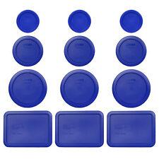 Pyrex (3) 7202-PC (3) 7200-PC (3) 7201-PC (3) 7210-PC Blue Replacement Lids