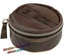 """Genuine Leather Deep-Brown """"Сhocolate"""" Gift Tube Holder for Storage of a Belt"""