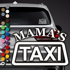 A99# Aufkleber Mama's Taxi Mama Mamas Baby on Board Kind Tour Auto Sticker Buggy