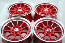 15 red Wheels Cooper XB Spark Vigor Accord Corolla Ion Sonata 4x100 4x114.3 Rims