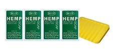 Authentic Green Hemp Australia 4 Pack Unscented Hemp Seed Soap Bars Aussie Made