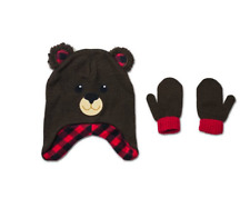 953994de67662 BEAR Hat   Mitten Accessory Set Size 2T-5T BEAR Baby Toddler Novelty